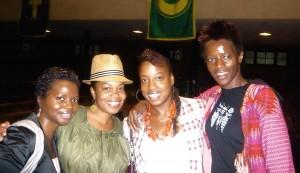 Marcia C., Crystal W., Me & Aissata D.